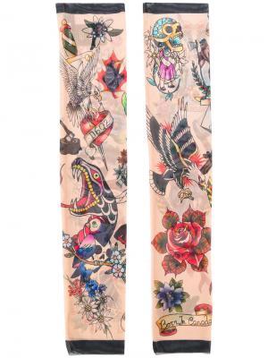 Перчатки tattoo collection Dsquared2. Цвет: многоцветный