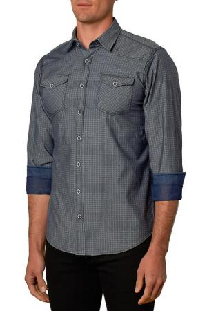 Рубашка Gabano. Цвет: серый