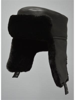 Ушанка Bos Bison. Цвет: коричневый