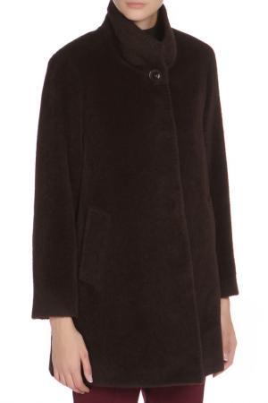 Свободное пальто с застежкой на пуговицы Cinzia Rocca. Цвет: коричневый