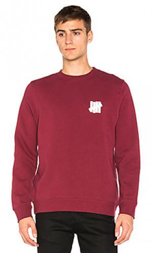 Пуловер chest strike Undefeated. Цвет: красный