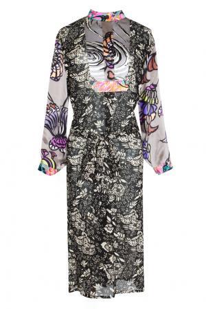 Платье с длинным рукавом и принтом Duro Olowu. Цвет: multicolor