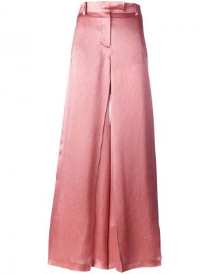 Широкие расклешенные брюки Valentino. Цвет: телесный