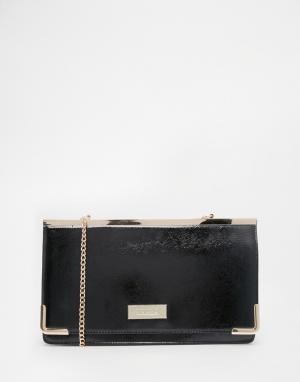 Juno Accessories Лакированная сумка-клатч. Цвет: черный