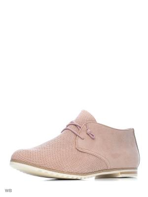 Ботинки Marco Tozzi. Цвет: розовый, золотистый