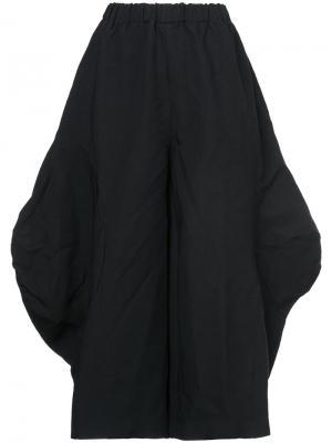 Укороченные широкие брюки Comme Des Garçons. Цвет: чёрный