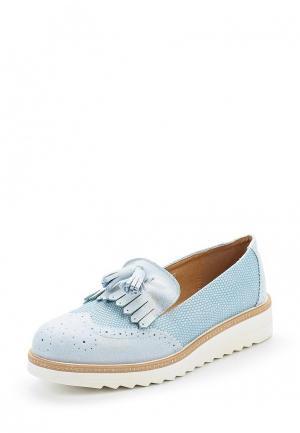 Лоферы Ideal Shoes. Цвет: голубой