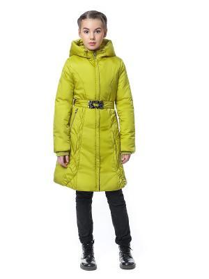 Пальто D`imma. Цвет: желтый