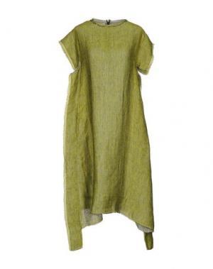 Платье до колена MANOSTORTI. Цвет: кислотно-зеленый