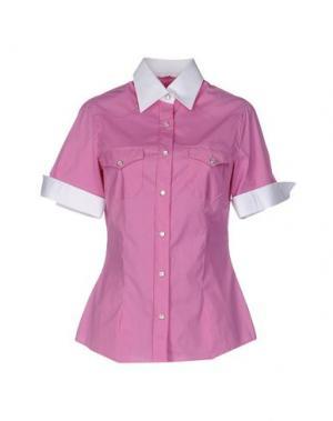 Pубашка BARBA Napoli. Цвет: розовато-лиловый