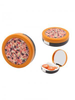 Набор для контактных линз Пицца К1623 Germes. Цвет: черный, оранжевый