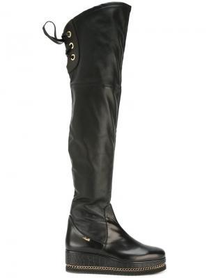 Platform knee boots Loriblu. Цвет: чёрный