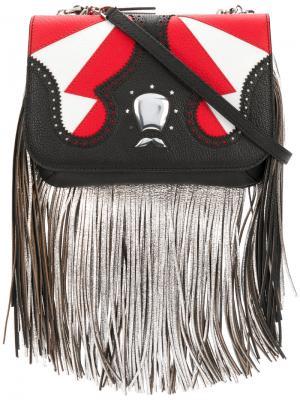 Icon fringe clutch bag The Volon. Цвет: многоцветный
