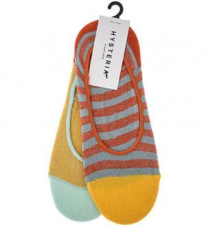 Комплект из двух пар коротких хлопковых носков Happy Socks. Цвет: серый