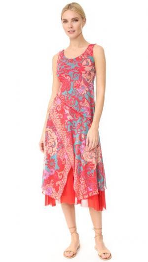 Платье без рукавов Fuzzi. Цвет: фуксия