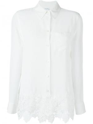 Рубашка с вышивкой Equipment. Цвет: белый