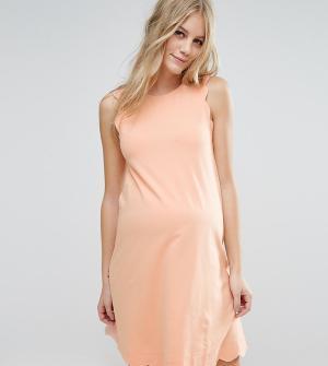 ASOS Maternity Цельнокройное платье для беременных с фигурной отделкой по краю M. Цвет: розовый