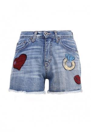 Шорты джинсовые Please. Цвет: синий