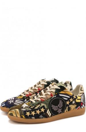 Текстильные кроссовки с нашивками Maison Margiela. Цвет: разноцветный