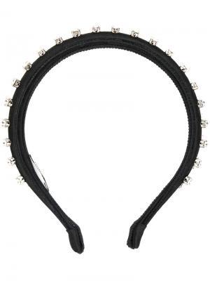 Декорированный ободок для волос Miu. Цвет: чёрный