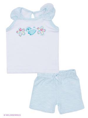 Комплект одежды PlayToday. Цвет: белый, бирюзовый