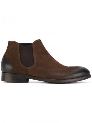 Ботинки по щиколотку Leqarant. Цвет: коричневый