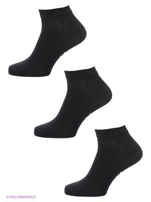 Носки, 3 пары Malerba. Цвет: черный