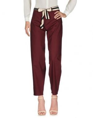 Повседневные брюки SOUVENIR. Цвет: красно-коричневый