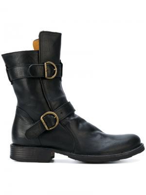 Ботинки с пряжками Fiorentini +  Baker. Цвет: чёрный