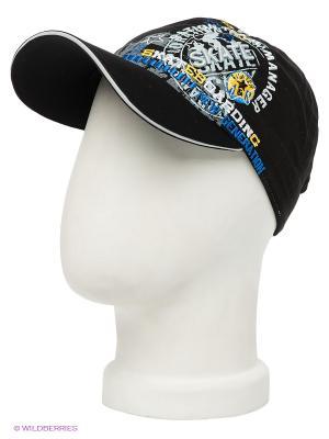 Бейсболка Maxval. Цвет: черный, белый, голубой