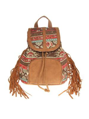 Рюкзак Olere. Цвет: коричневый, бежевый, красный