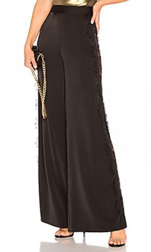 Широкие брюки с кружевом leggy in lace NBD. Цвет: черный