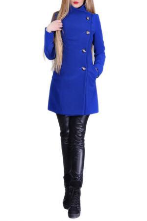 Пальто FRANCESCA LUCINI. Цвет: синий