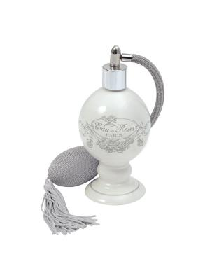 Пульверизатор керамический с грушей 6,5х11,5см Розовая вода. Mathilde M. Цвет: белый, черный