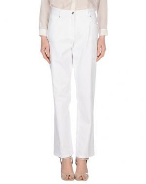 Джинсовые брюки GIORGIO GRATI. Цвет: белый