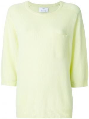 Джемпер с карманом на груди Allude. Цвет: жёлтый и оранжевый
