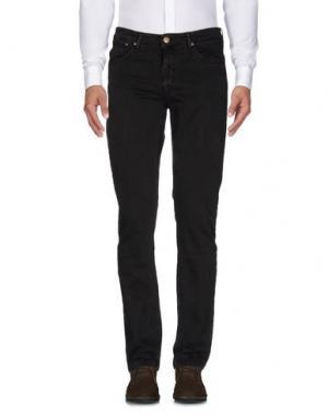 Повседневные брюки B SETTECENTO. Цвет: темно-коричневый
