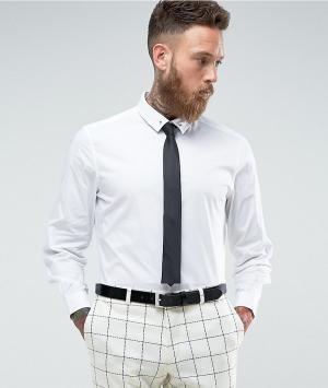 ASOS Узкая белая рубашка с черным галстуком и булавкой для галстука -. Цвет: белый