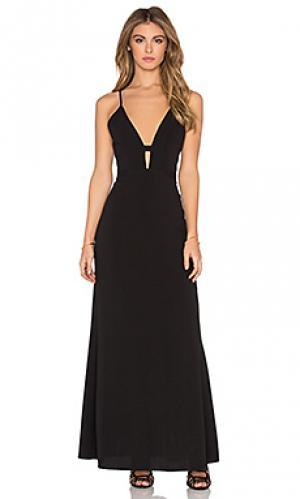 Макси платье everytime NBD. Цвет: черный