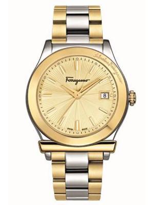 Часы Salvatore Ferragamo. Цвет: золотистый, серебристый
