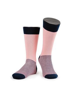 Twins 1 носки мужские MARREY. Цвет: розовый, темно-синий