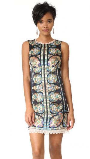 Эффектное свободное платье Nanette Lepore. Цвет: черный/мульти