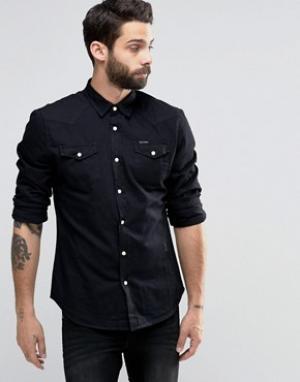 Religion Джинсовая рубашка на кнопках. Цвет: черный