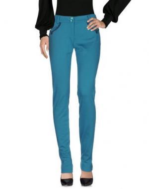 Повседневные брюки CANNELLA. Цвет: цвет морской волны