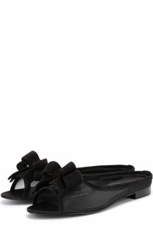 Домашние туфли с бантом Aleksandersiradekian. Цвет: черный