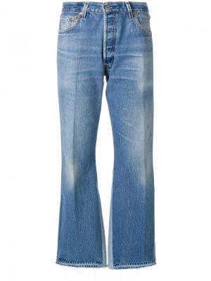 Укороченные брюки Re/Done. Цвет: синий