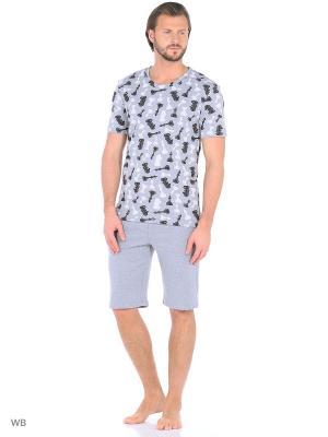 Пижама Flip. Цвет: серый