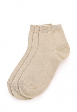 Комплект носков 3 пары Брестские. Цвет: бежевый