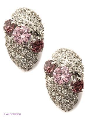 Серьги Lovely Jewelry. Цвет: белый, бледно-розовый