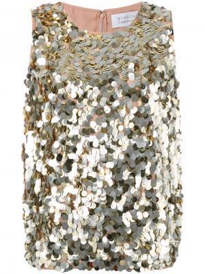 Декорированный топ Gianluca Capannolo. Цвет: металлический